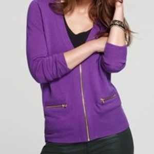 Juicy couture Lucy purple zipper front car…